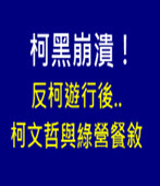柯黑崩潰!反柯遊行後..柯文哲與綠營餐敘 高歌「用心良苦」- 台灣e新聞