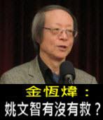 《金恆煒專欄》姚文智有沒有救?-台灣e新聞