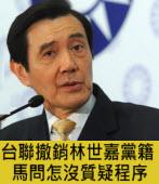台聯撤銷林世嘉黨籍 馬問怎沒質疑程序 -台灣e新聞