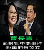 曹長青:面對管中閔事件說謊的蔡英文-台灣e新聞