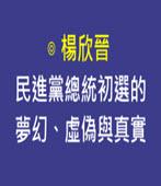 【專欄】民進黨總統初選的夢幻、虛偽與真實-◎楊欣晉-台灣e新聞