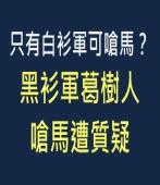 只有白衫軍可嗆馬?黑衫軍葛樹人嗆馬遭質疑  - 台灣e新聞