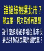 誰披綠袍選北市? 顧立雄、柯文哲都有意願 -台灣e新聞