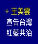 王美雲: 宣告台灣紅藍共治 - 台灣e新聞
