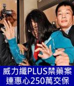 威力纖PLUS禁藥案 連惠心250萬交保 - 台灣e新聞