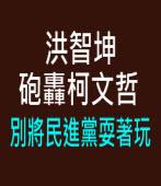 洪智坤砲轟柯文哲別將民進黨耍著玩 - 台灣e新聞