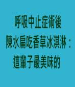 呼吸中止症術後 陳水扁吃香草冰淇淋:這輩子最美味的- 台灣e新聞