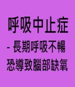 呼吸中止症-長期呼吸不暢 恐導致腦部缺氧 -台灣e新聞