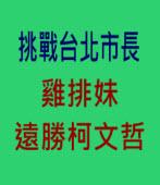 挑戰台北市長,雞排妹遠勝柯文哲 - 台灣e新聞