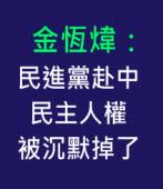 金恆煒:民進黨赴中 民主人權被沉默掉了 --台灣e新聞